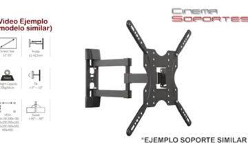 Soporte VESA 400x400 TV LCD movil con brazo